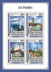Z08 CA16909a CENTRAL AFRICAN REP. 2016 Lighthouses MNH ** Postfrisch