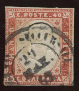 Sardinia Scott 13 Used 1863 victor emanuel head up CV$42.50
