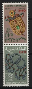 MOROCCO B16  PAIR, MNH, 1969 50TH Anniv. of league of red cross society