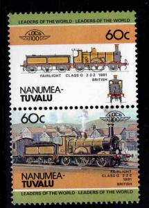 Nanumea-TUVALU Scott 9 MNH** Train pair
