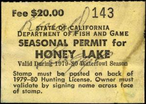 CALIFORNIA  #A24 1979 HONEY LAKE STAMP USED d119