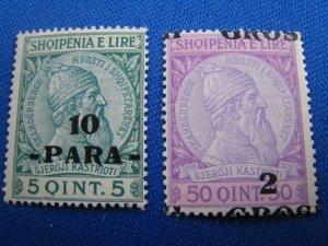 ALBANIA 1914 - SCOTT # 48, 51    MNH