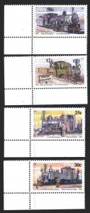 South west africa. 1985. 575-78. Trains. MNH.