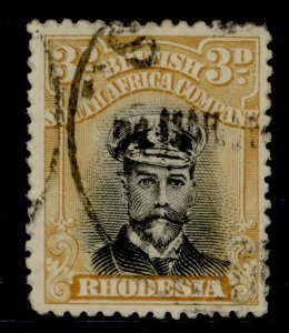 RHODESIA GV SG260, 3d black and ochre, USED.