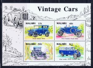 Malawi 565a NH 1990 Vintage Cars S/S