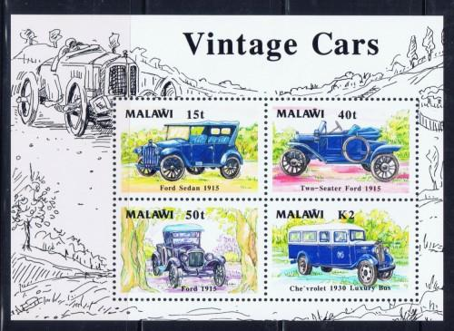 Malawi 565a NH 1990 Vintage Cars S/S