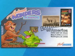 Animal Wonders of America FDC w DCP  Celebrates Swift Antelopes Speeding By!