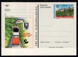 Austria MI P525 Train Postal Card Unused VF