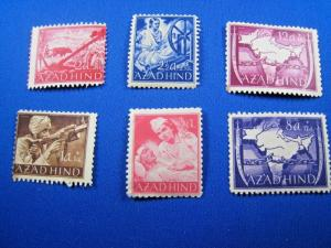 INDIA (AZAD HIND) GERMAN OCCUPATION 1943  STAMPS