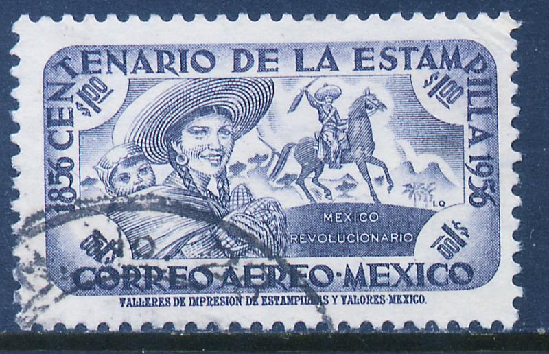 MEXICO C232, $1P Centenary of 1st postage stamps Used (1092)