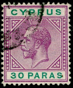 CYPRUS SG76, 30pa violet & green, FINE USED.