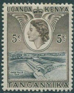 Kenya Uganda Tanganyika 1954 SG167 5c black and brown Owen Falls Dam MLH