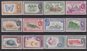British Honduras 1953-1957 SC 144-155 MzLH Set - Queen Elizabeth