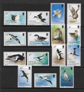 BIRDS & PENGUINS - SOUTH GEORGIA #109-23    MNH