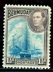 Bermuda; 1943: Sc. # 119a: O/Used Single Stamp