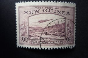 ***NEW GUINEA BULOLO 9d VIOLET AIRMAIL***VERY FINE USED***
