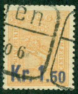 NORWAY #60, Used, Scott $95.00