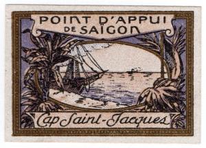 (I.B) France Cinderella : Delandre Great War Patriotic Stamp (Saigon)