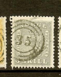 NORWAY (P1908B) SC7  3 RING 35  VFU