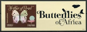 Tanzania Butterfly Stamps 2011 MNH Butterflies of Africa Mother Pearl 1v S/S I