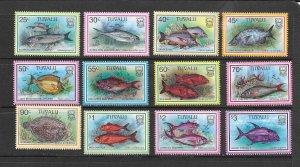 FISH - TUVALU #729-40  MNH