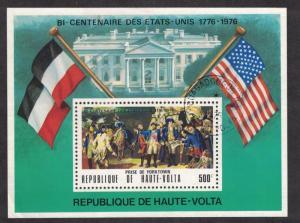 Upper Volta. US Bicentennial Souvenir Sheet. Cancelled. Hinged.  #02 UVUB