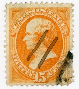 #189 - 1879 15c Webster, red orange.  Used average.