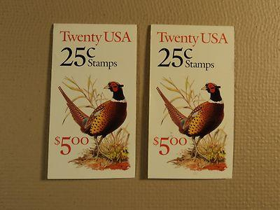 USPS Scott 2283a 25c 2 Books Pheasant 1988 40 Stamps Mint...