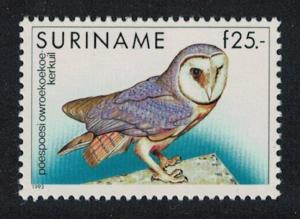 Suriname Barn Owl 25 Gulden SG#1542
