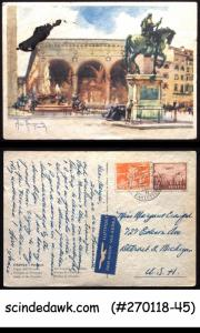 SWITZERLAND - 1950 LODGE OF THE ORCAGNA PICTURE POSTCARD TO USA WITH STAMPS