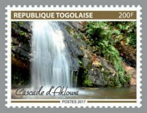 Togo - 2017 Aklowa Waterfall - Stamp - TGLocal09a