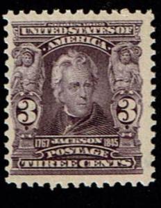 Scott #302 F/VF-OG-LH. SCV - $55.00