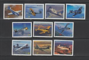 US,3916-25,AVIATION ADVANCES, 2005,FULL SETS COLLECTION,MINT NH OG,VF