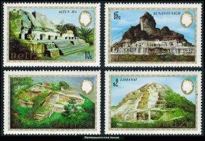 Belize Scott 680-683 Mint never hinged.