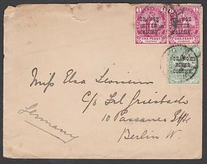 ORANGE RIVER COLONY 1902 cover to Germany ex Bloemfontein..................27870