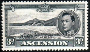 ASCENSION 1938-53 GVI 3d black and grey perf 13 SG42a fine mint............51626