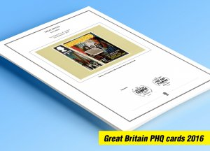 COLOR PRINTED GREAT BRITAIN 2016 PHQ CARDS STAMP ALBUM PAGES (125 illust. pages)