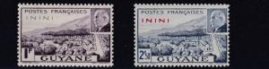 FRENCH COLONIES ININI 1941  PETAIN  SET   MH