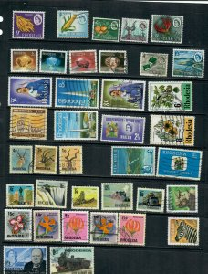 RHODESIA  MIX X 37  ALL DIFFERENT, USED  LOT A