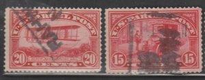 U.S. Scott #Q9-Q10 Parcel Post Stamps - Used Set of 2