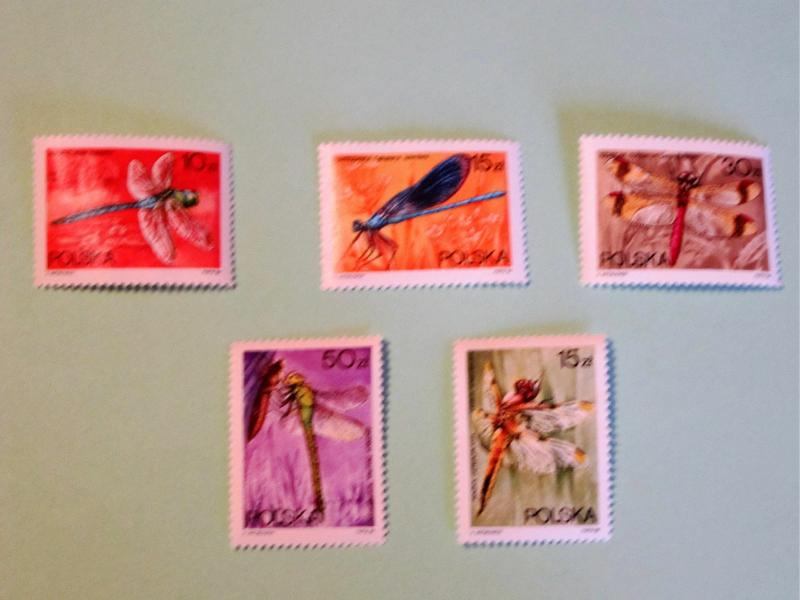 Poland, 2841-46, MNH Set. Dragonflies. SCV - $2.10