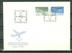 FINLAND AVIATION #421-422...SET on FDC