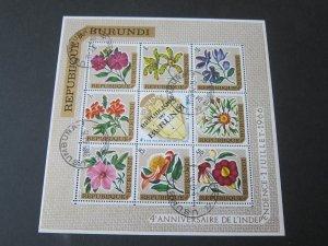 Burundi 1967 Flower set FU