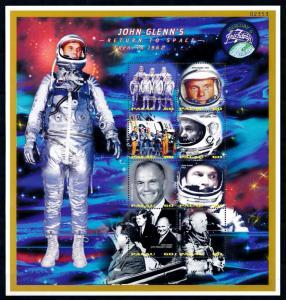 [56460] Palau 1998 Space travel John Glenn in 1962 MNH Sheet