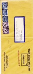 1958, Boston to Osterville, MA, Registered, See Remark (9593)