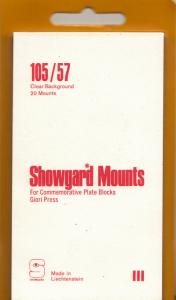 SHOWGARD CLEAR MOUNTS 105/57 (20) RETAIL PRICE $8.35