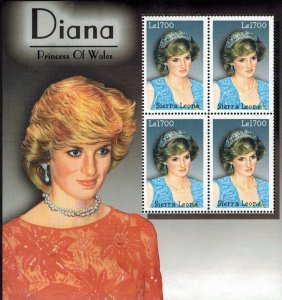 Sierra Leone MNH S/S Diana Princess Of Wales
