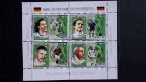 Football players - Congo 2006 - Perforated sheet  ** MNH