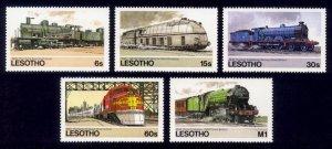 Lesotho Sc# 453-7 MNH Locomotives