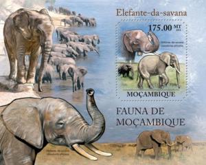 Mozambique MNH S/S Elephants 2011